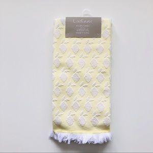 Ladinne Lemon Yellow Turkish Kitchen Towels  2